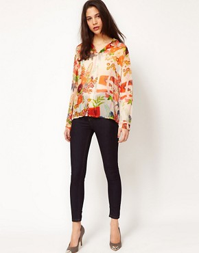 Image 4 ofEquipment Floral Silk Blouse