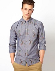 Minimum Chambray Shirt with Print