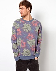 River Island Sweatshirt Wih Floral Print