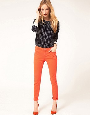 Image 1 ofWhistles Skinny Jeans With Roll Up Detail