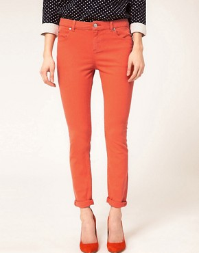 Image 4 ofWhistles Skinny Jeans With Roll Up Detail