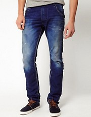 Diesel - Krooley 811P Blue Icon - Jeans slim stretti in fondo