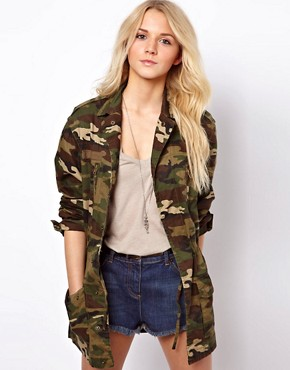Image 1 ofASOS Camo Army Parka