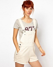 Ganni Dungarees in Canvas