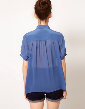 Image 2 ofFrench Connection Spring Short Sleeve Blouse