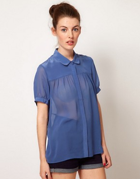 Image 1 ofFrench Connection Spring Short Sleeve Blouse