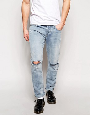ASOS Slim Jeans With Knee Rips