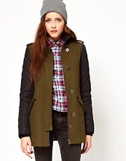 Vero Moda Contrast Sleeve Coat