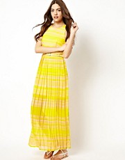 French Connection London Rock Stripe Maxi Dress