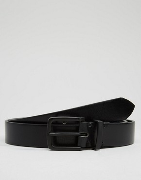ASOS Smart Leather Belt In Black