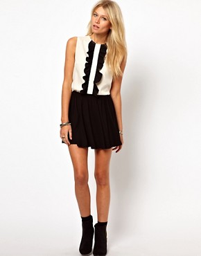 Image 4 ofASOS Sleeveless Blouse With Ruffle Front