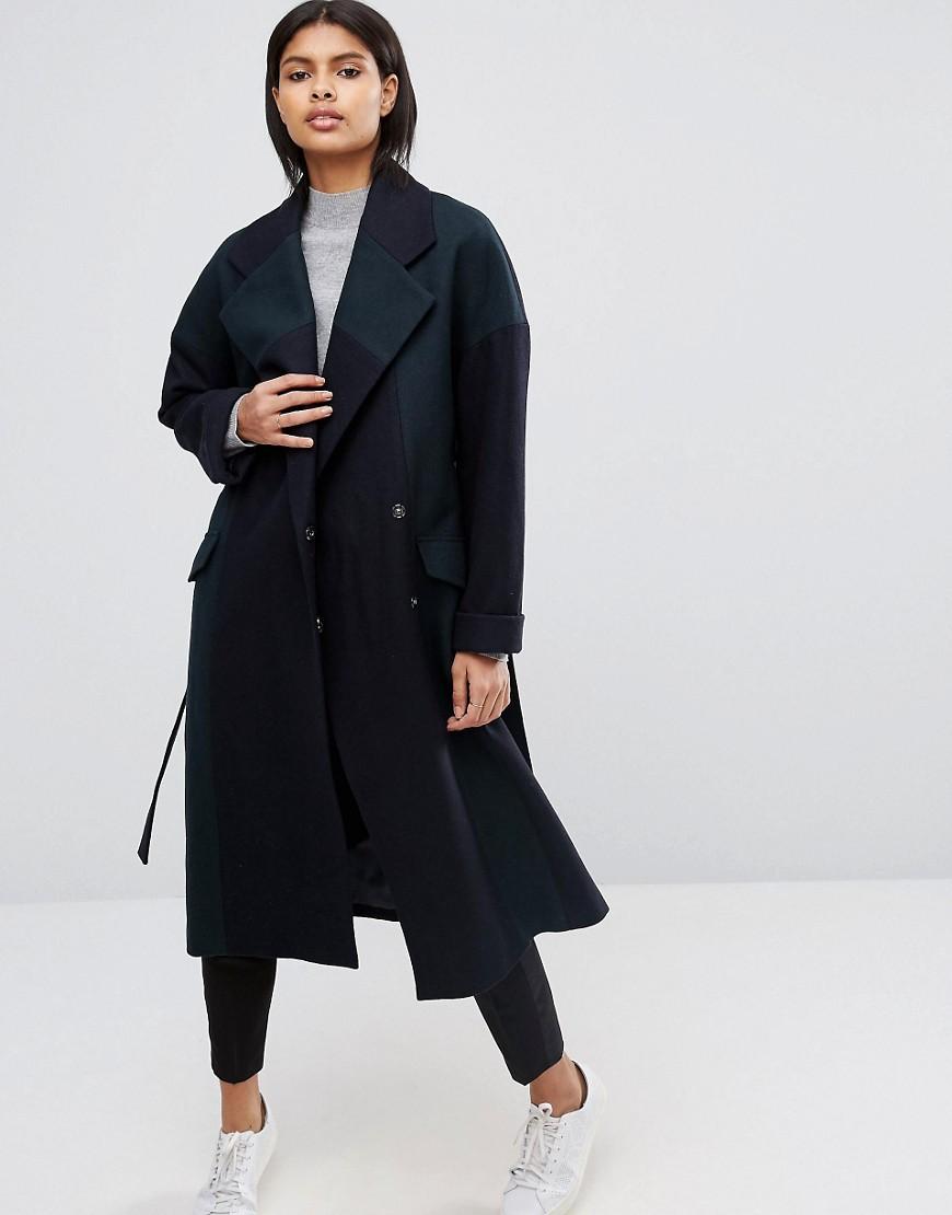 abrigo lana asos