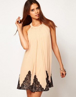 Image 1 ofASOS Swing Dress With Lace Trim