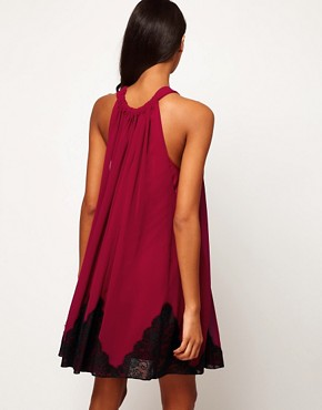Image 2 ofASOS Swing Dress With Lace Trim