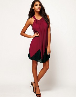 Image 4 ofASOS Swing Dress With Lace Trim