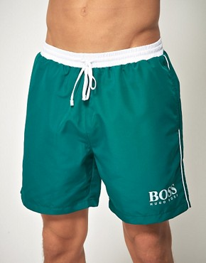 Image 1 ofBoss Black Star Fish Swim Short