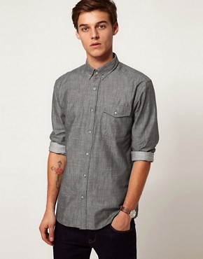 Image 1 ofSelected Chambray Shirt