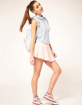 Image 4 of American Apparel Sleeveless Denim Shirt