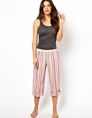 Calvin Klein Woven Stripe Roll Up PJ Pant