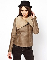 Muubaa Bronson Cowl Sheepskin Jacket
