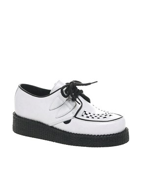 Image 1 ofUnderground Wulfrun White Round Toe Creepers