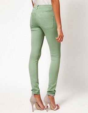 Image 2 ofASOS Skinny Jeans In Soft Turquoise