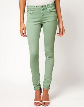 Image 1 ofASOS Skinny Jeans In Soft Turquoise