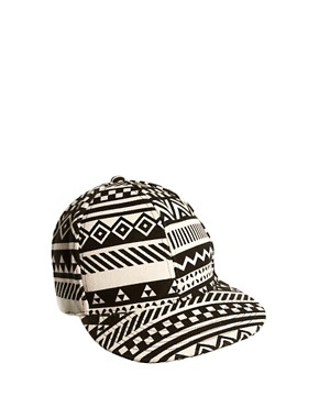 Image 1 of ASOS Snap Back Cap with Aztec Print