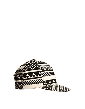 Image 2 of ASOS Snap Back Cap with Aztec Print