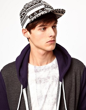 Image 3 of ASOS Snap Back Cap with Aztec Print