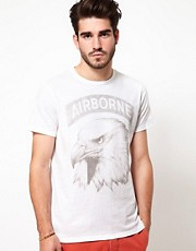 Edwin - Airborne - T-shirt con aquila stampata