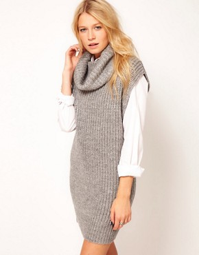 Image 1 ofASOS Sleeveless Cowl Neck Dress