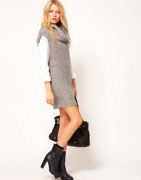 Image 4 ofASOS Sleeveless Cowl Neck Dress