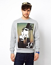 New Look Sweatshirt with LA Hands Print