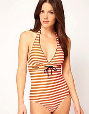 Ted Baker Nautical Stripe Halter Suit
