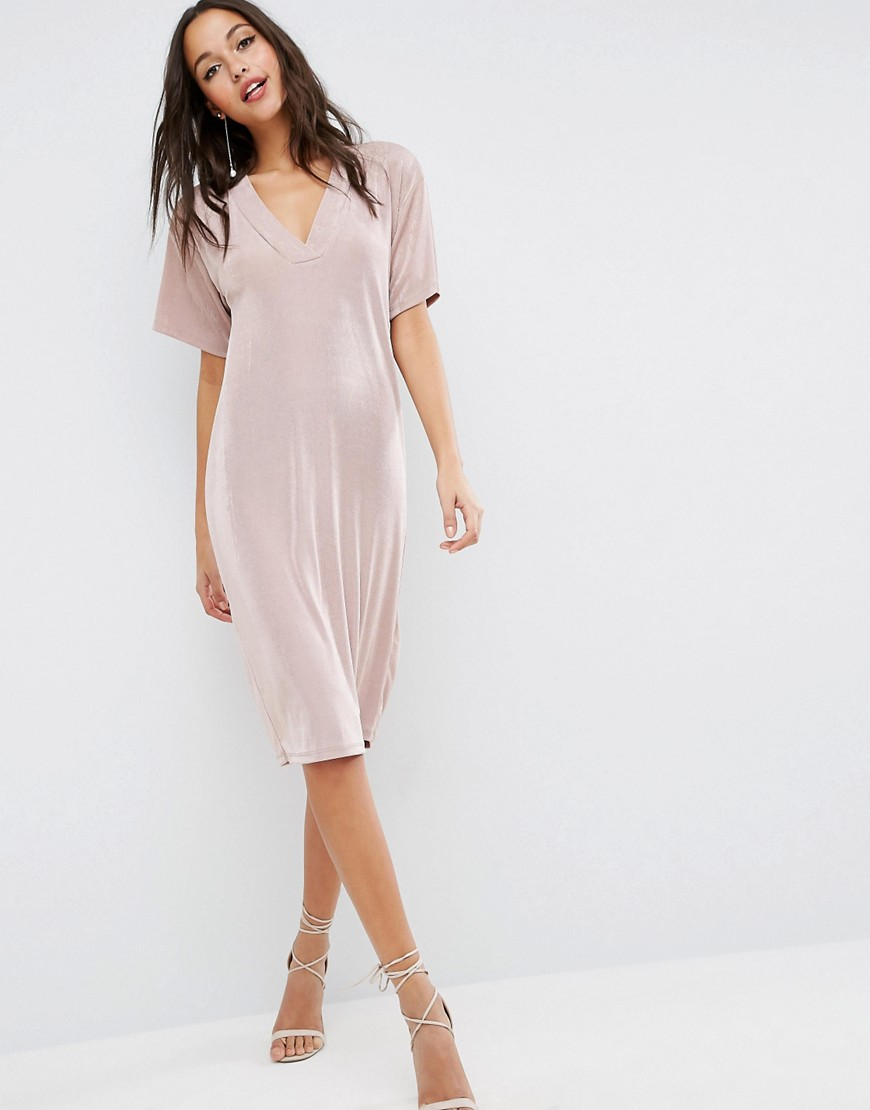 ASOS Slinky T-Shirt Dress