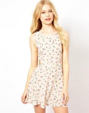 Image 1 ofGlamorous Floral Dress With Cut Out