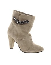 IRO Chunky Heeled Boot With Chain Strap