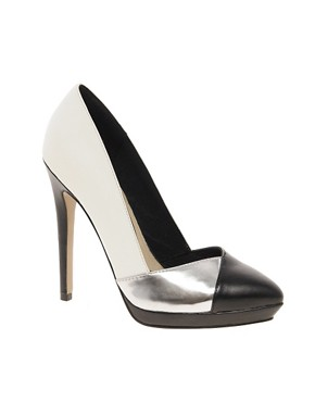 Image 1 of ASOS PROPER Pointed Court Shoes In Colour Block
