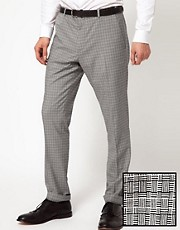 ASOS Skinny Fit Suit Trousers in Geo Design