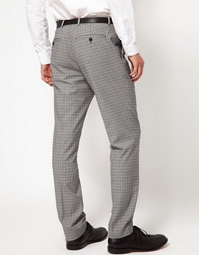 Image 2 ofASOS Skinny Fit Suit Trousers in Geo Design