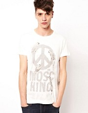 Love Moschino Logo Bird T-Shirt