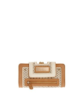 Image 1 ofRiver Island Cream Textured Granny Purse