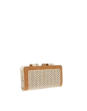 Image 2 ofRiver Island Cream Textured Granny Purse
