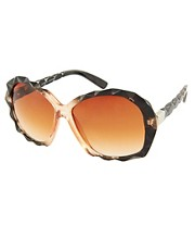 Jeepers Peepers Zaffran Brown Cat Eye Sunglasses