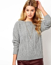 Glamorous Aran Knit Boyfriend Jumper