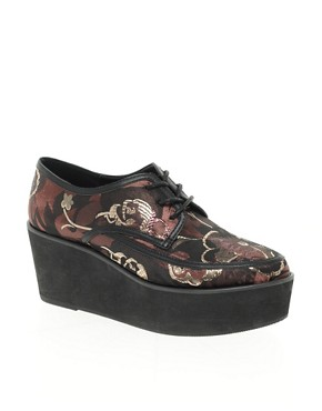 Image 1 ofASOS VANCOUVER Brocade Flatforms