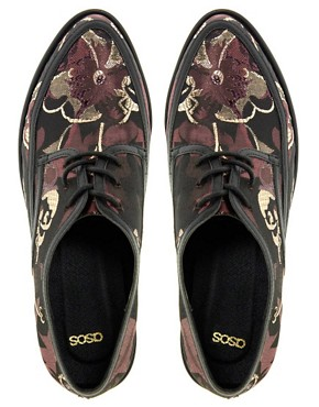 Image 2 ofASOS VANCOUVER Brocade Flatforms