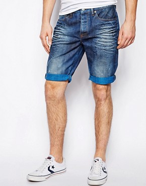River Island Bright Denim Shorts