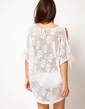 Image 2 ofASOS Lace Oversized Beach Cover Up